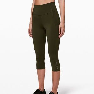 """NWT Lululemon Fast and Free HR Crop 19"""" Size 8"""
